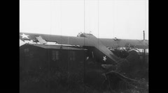 WW2 - US Air Force - Aircrafts 05 - Crashed Gliders - stock footage