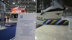 Independent suspension for buses at Exhibition ExpoCityTrans Stock Footage