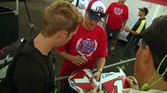 American motocross racer Ryan Dungey signs autographs (AMA1-09) - stock footage