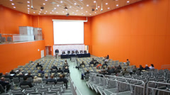 Review speaker and lesteners at the Second Eurasian Congress Stock Footage