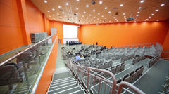 View aisle along audience rows at the Second Eurasian Congress Stock Footage
