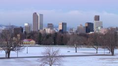 Beautiful Denver Sunrise in Winter - stock footage