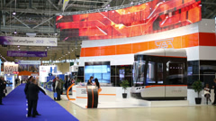 Model of bus cabin at Second Eurasian Congress and Exhibition Stock Footage