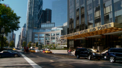 New York City Horse Drawn Carriage in front of Trump Tower Stock Footage