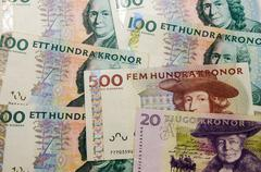 Swedish banknotes Stock Photos