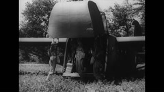 WW2 - US Air Force - Unloading Aircraft 01 - Hadrian Stock Footage