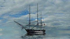Sailing Ship historically Stock Footage