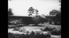 WW2 - US Air Force - Aircaft 13 - Hadrian Landing Stock Footage