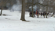 Stock Video Footage of Revolutionary war reenactment