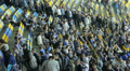People mass fans leave stadium arena after football match game HD Footage