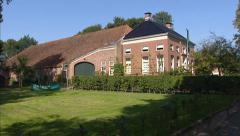 Meadow in northern sea clay area + pan Manor Farm or Herenboerderij Stock Footage