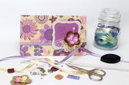 Stock Photo of scrapbooking