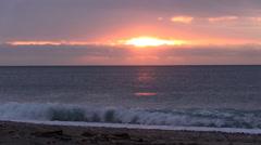 Sunrise on the sea romantic Stock Footage