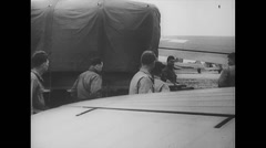 WW2 - US Air Force - Load Aircraft 06 - Materials - stock footage
