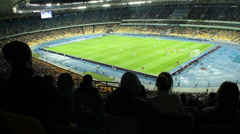 Failed attack football match, fans boo disappointed, stadium, click for HD Stock Footage