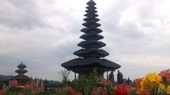 Old Ulun Danu Temple in Beratan Lake, Bali Stock Footage
