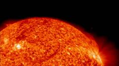 Rotating sun Stock Footage