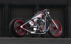 Custom Built Motorcycle Stock Photos