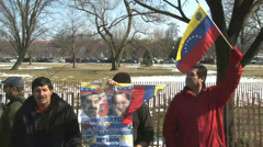 Venezuelan Protesters/Pro-Maduro - stock footage