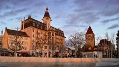 Lausanne Switzerland - timelapse Stock Footage