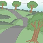 Road cartoon vector Stock Illustration