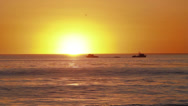 Stock Video Footage of Fishing Boats At Sunset
