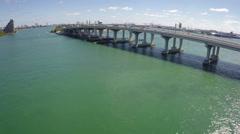 Macarthur bridge flyover Stock Footage