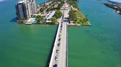 Venetian causeway and toll Stock Footage