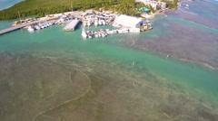 Aerial footage of the Florida Keys Stock Footage