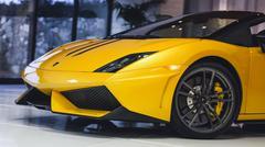 Lamborghini Gallardo Front Detail Shot Stock Photos