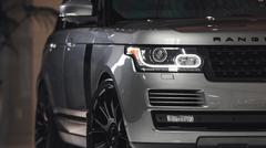 2014 Range Rover Tight Detail Shot Front - stock photo