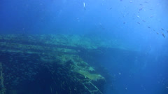 Top of Sugar Wreck, Perhentian Islands with amazing visibility Stock Footage