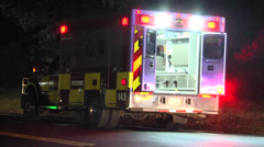 rescue squad transport on the scene - stock footage