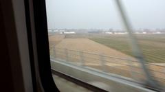 Moving CRH (China Railway High-speed) Harmony bullet train Stock Footage