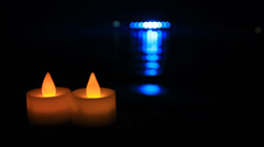 Modern LED Candles Stock Footage
