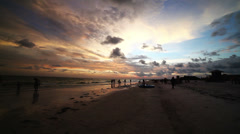 Beautiful Sunset Beach - stock footage