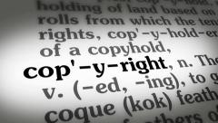 Dictionary Copyright - stock footage