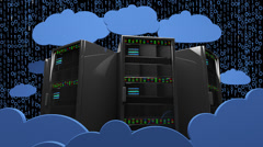 4K Cloud Servers 15 Stock Footage