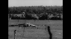 WW2 - US Air Force - Glider 07 - Crashed Stock Footage