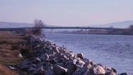 Stock Video Footage of river and bridge