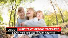Max Line Lower Third Stock After Effects