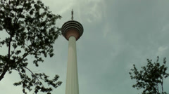 Malaysia Kuala Lumpur 035HD kl tower against cloudy sky Stock Footage