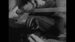WW2 - US Air Force - Paratroopers 08 - Grind Bayonet - stock footage