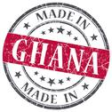 Stock Illustration of made in ghana red grunge stamp isolated on white background