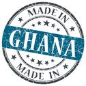 Stock Illustration of made in ghana blue grunge stamp isolated on white background