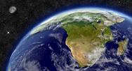 Stock Illustration of south africa on planet earth