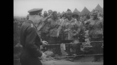 WW2 - US Air Force - Paratroopers 10 - General Henry Arnold Troop visit Stock Footage