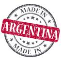 Stock Illustration of made in argentina red grunge stamp isolated on white background