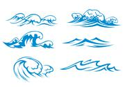 Stock Illustration of ocean and sea waves