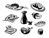 Stock Illustration of japan seafood